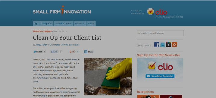 Clean Up Your Client List - Small Firm Innovation