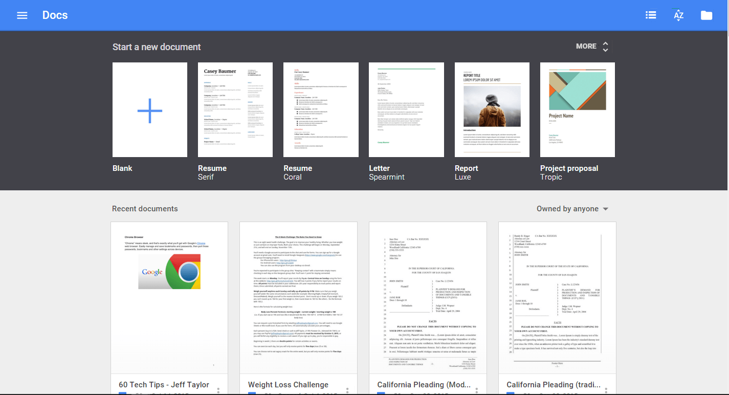 New Templates For Google Docs Sheets And Slides The Droid Lawyer