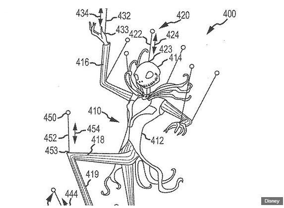 jack skellington drone patent drawing