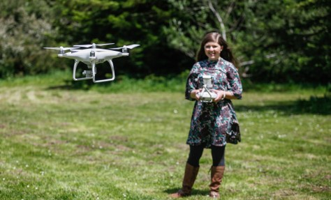 drone girl phantom 4