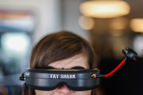 fat shark fpv goggles drone girl