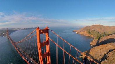 golden gate bridge drone
