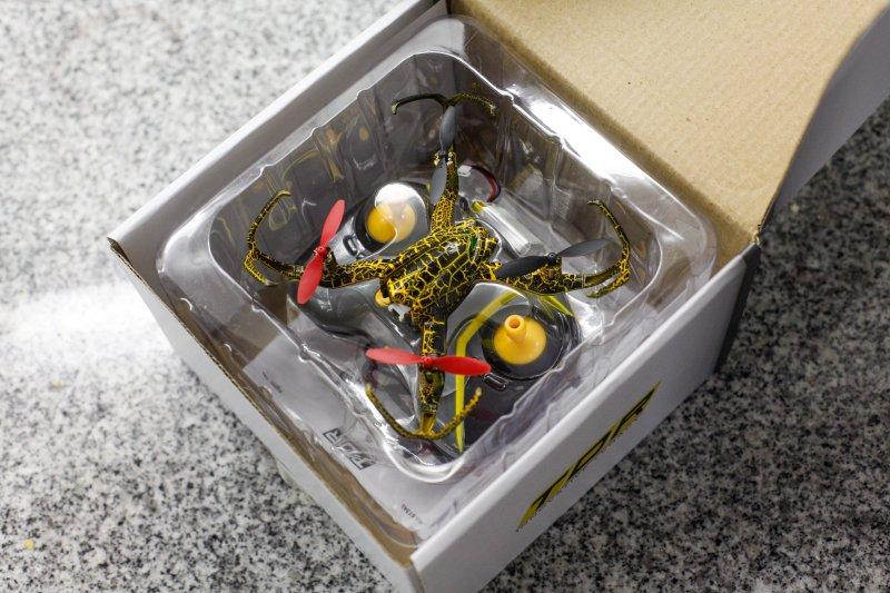spider drone in box