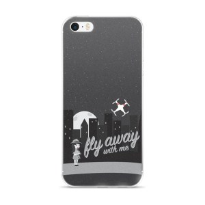 """iPhone 5/5s/SE & 6/6s/Plus/6sPlus case """"Fly Away With Me"""""""