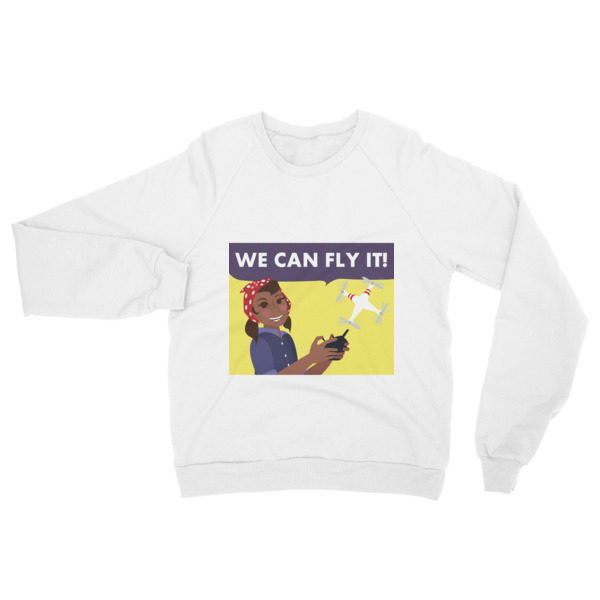 """We Can Fly It"" Raglan sweater"