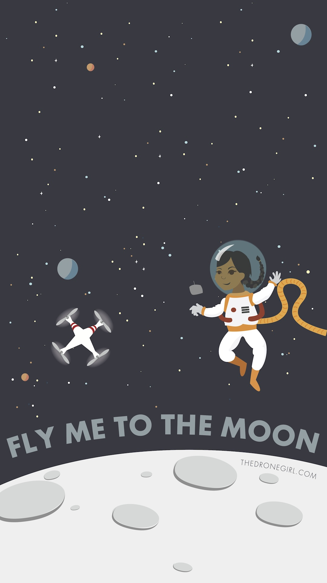 Moon To Moon Luxury Bohemian Interiors Martyn Lawrence: Drone Girl Art Series: Fly Me To The Moon