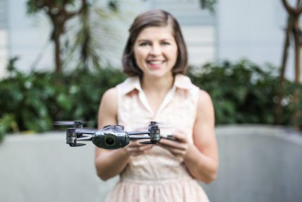 American drone companies Lily mota sally french the drone girl