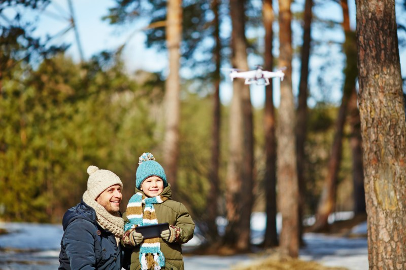 drone snow cold weather tips kid