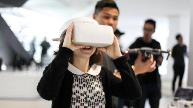 visual observer dji store Hong Kong fpv drone girl sally french
