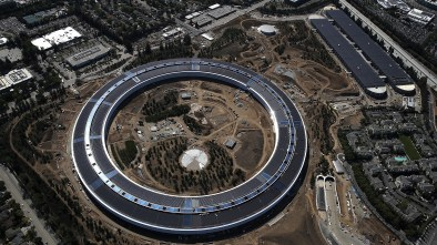Apple security aerial drone campus park cupertino