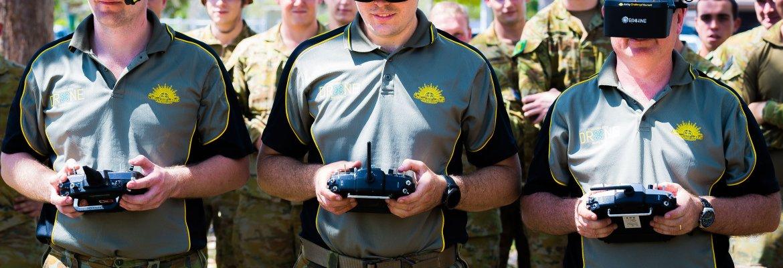 Australian military drone racing team