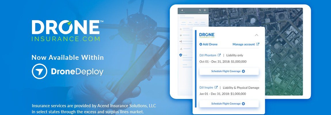 Drone Deploy drone insurance REIN insure software