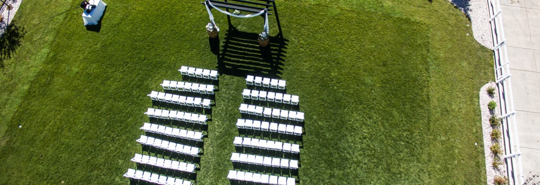 wedding photos photography drone incorporate aerial venue ceremony altar