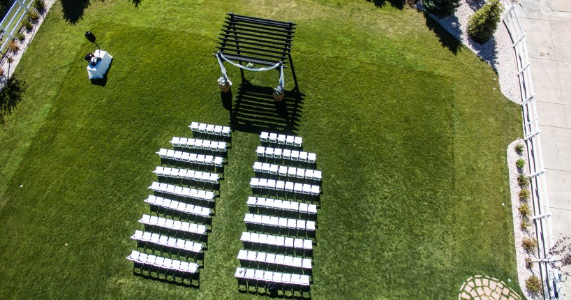wedding photos photography drone incorporate aerial venue ceremony altar