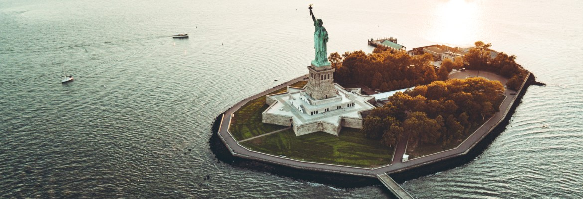 new york city 5th annual drone film festival randy scott slavin aerial statue of liberty