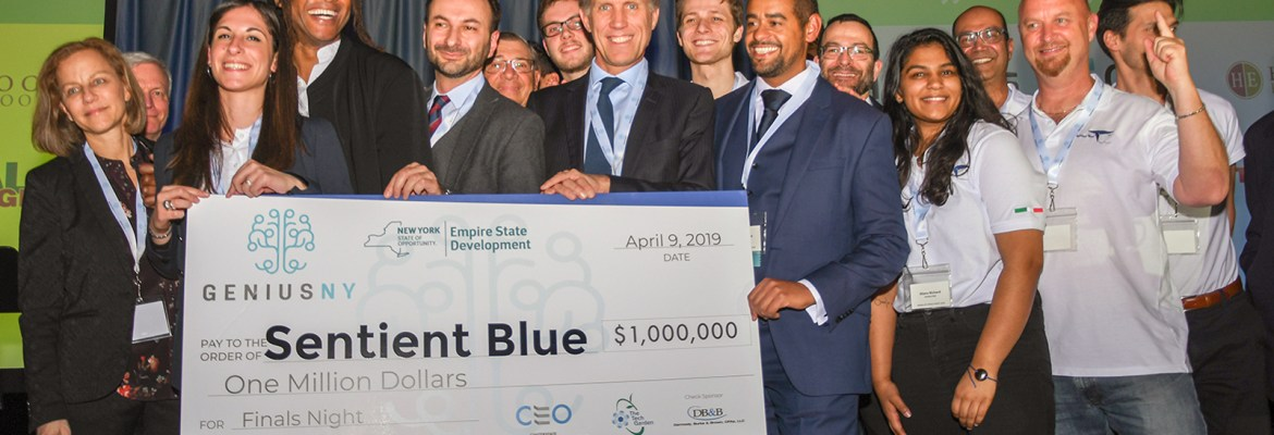 GENIUS NY 2019 Sentient Blue NYC New York startup accelerator drone