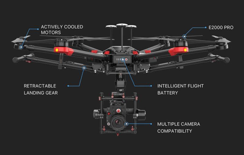 DJI Matrice 600 Pro LiDAR E2000 Pro drone