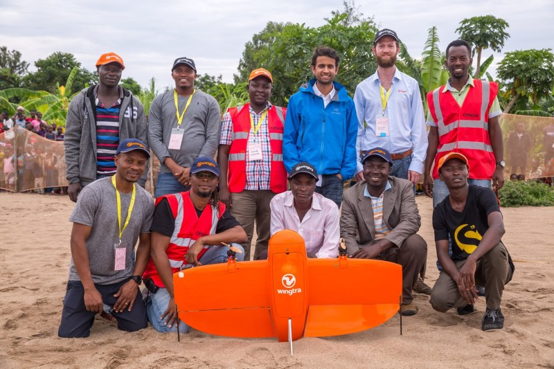 A LVC drone operator team African Drone Forum