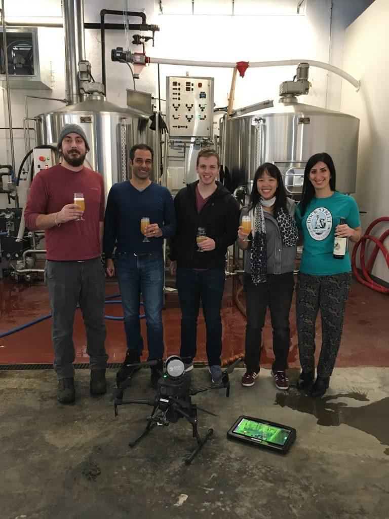 drone brew beer Exyn technologies label dock street brewing philadelphia swarm