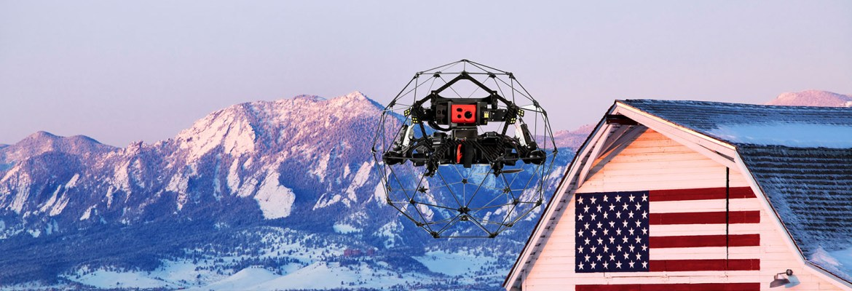 Denver Flyability indoor drone swiss helios 2
