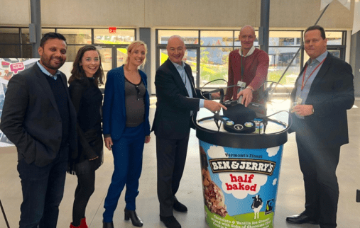 Ben & Jerry's TerraDrone Unilever drone delivery ice cream half baked