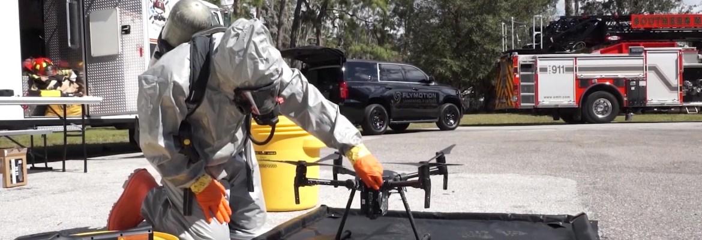 decontaminate drones
