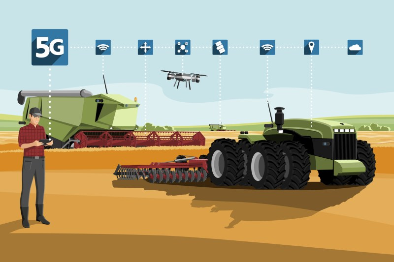 5G drones agriculture