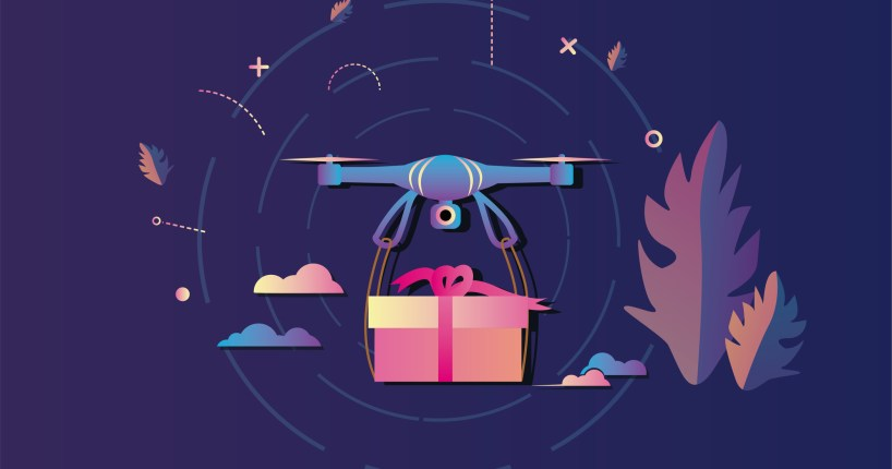 drone delivery birthday gift