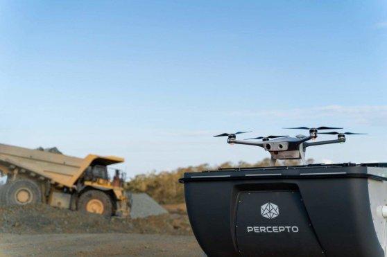 Percepto construction inspection drone in a box