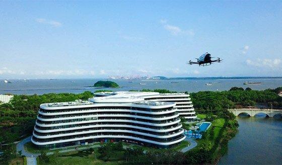 LN Garden Hotel EHang passenger drone