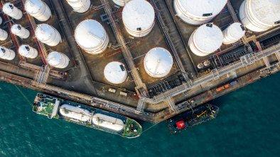 energy companies oil gas drone
