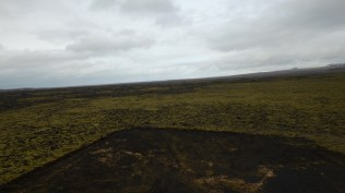 Lava field by drone - dark and moody