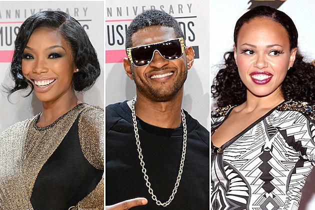 Brandy, Usher, Elle Varner