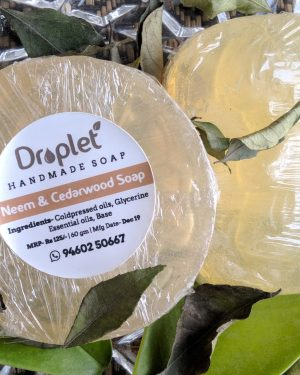 handmade neem cedarwood soap without chemicals