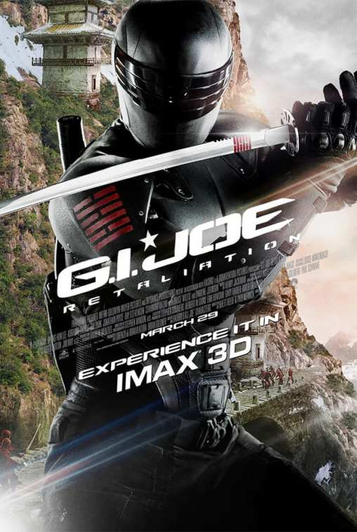 Snake Eyes is Front and Center on the New G.I. Joe: Retaliation IMAX Poster