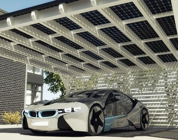 BMW X SOLARWATT – SOLAR ENERGY CARPORT SYSTEM