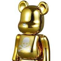 MASTERMIND JAPAN X MEDICOM TOY – CHROME SILVER + GOLD CHOGOKIN BE@RBRICK 400% + 1000%