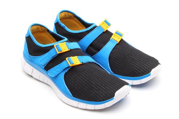 Nike Free Sockracer Black/University Gold-Photo Blue