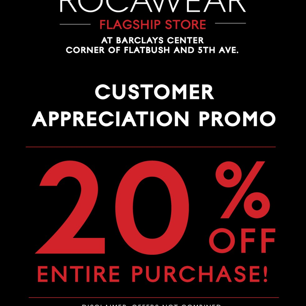 Rocawear Flagship Store @ The Barclays Center Sale