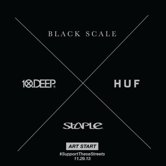 "STAPLE X HUF X BLACK SCALE X 10.DEEP – ""ART START"" PROJECT"