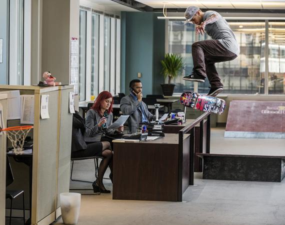 RED BULL – DAILY GRIND: SKATEBOARDING INSIDE OFFICE SPACE