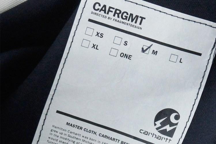 "fragment design & Carhartt WIP Tease Their 2014 Fall/Winter ""CAFRGMT"" Collaboration"