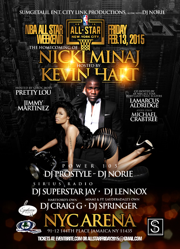 NICKI MINAJ WELCOME HOME PARTY Hosted by Kevin Hart