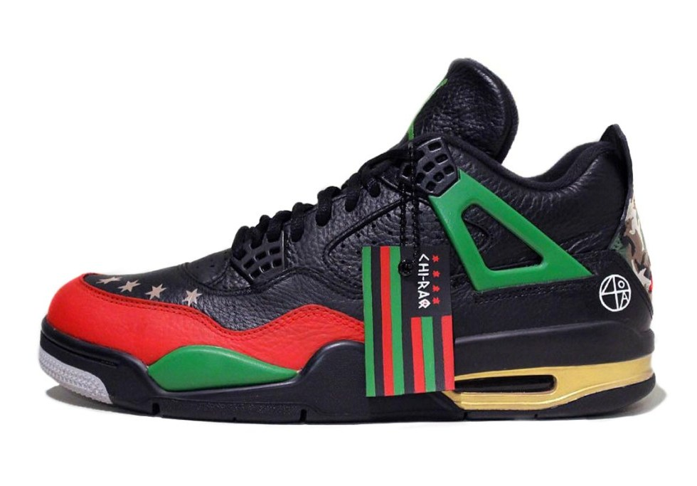 "Custom ""Chi-Raq"" Air Jordan IVs for Spike Lee"