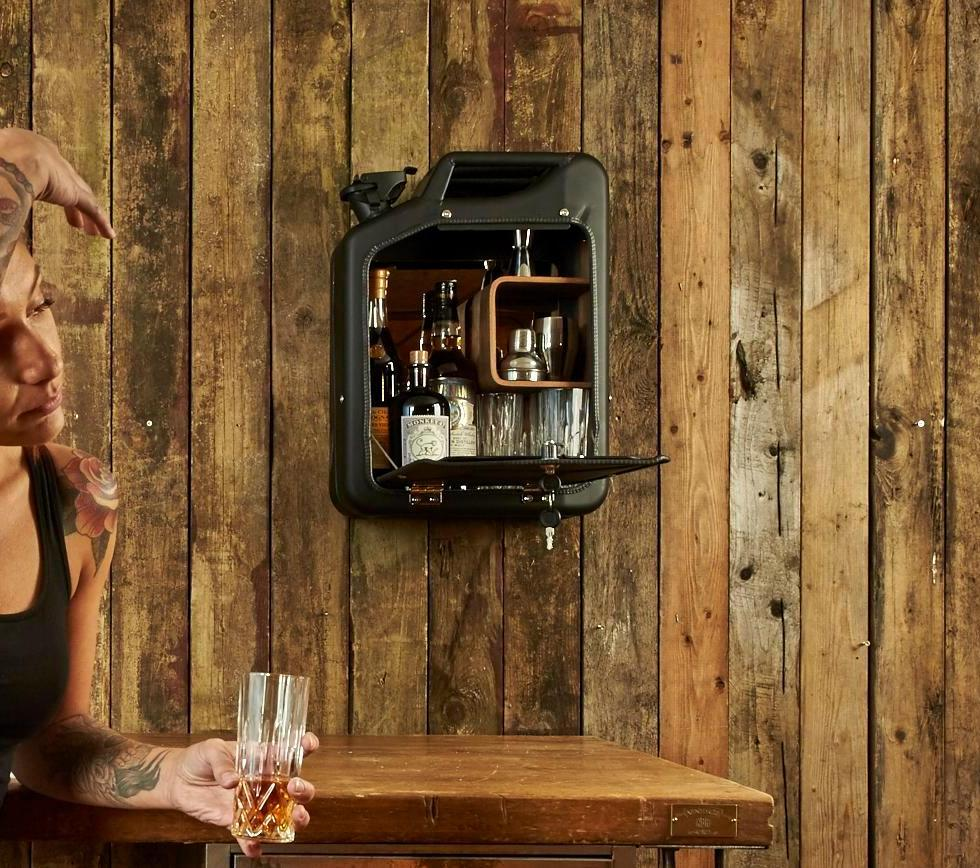 THE JERRY CAN BAR CABINET