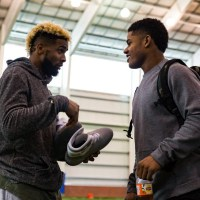 Odell Beckham Jr., Victor Cruz and Sterling Shepard Test Out the Nike Air MAG