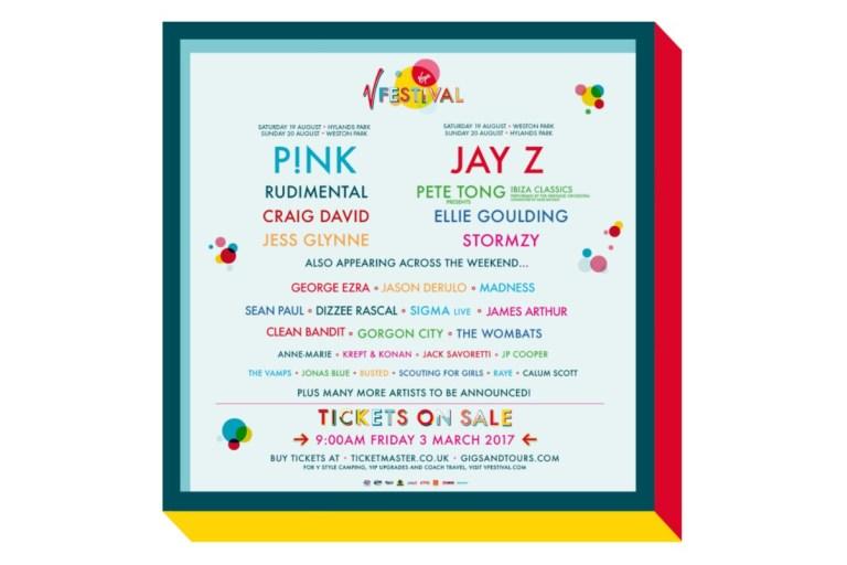 Jay Z Is Headlining The 2017 V Festival