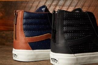Vans Leather Perf Sk8-Hi Reissue Zip @DQM