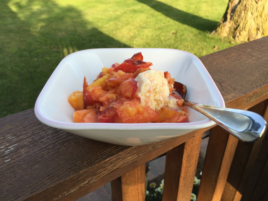 Peach topping food
