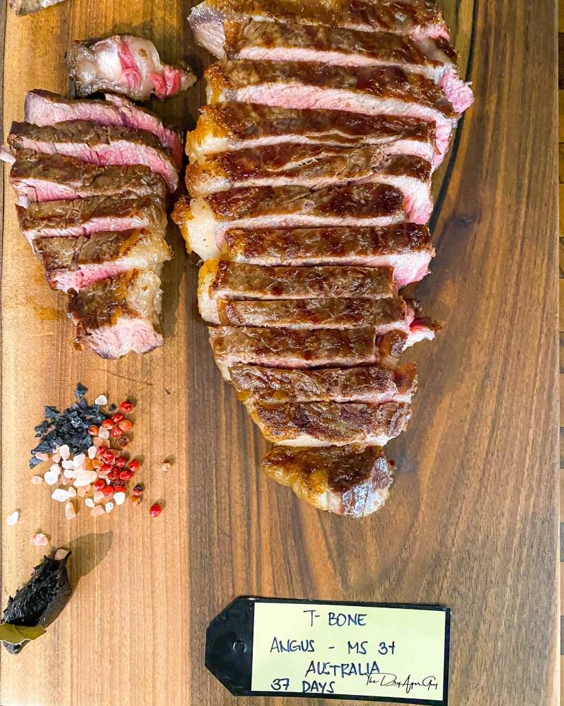 Australian Angus T Bone Steak aged 37 days